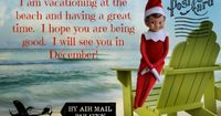 "How cute is this summer postcard we just received in the mail from our ""Elf on the Shelf""? I think it is totally adorable! Don't you? If you think your little o"