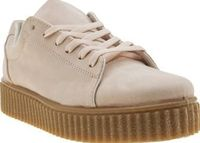 Schuh Pale Pink Fun And Games Womens Trainers Here at schuh, we love a little Fun And Games and now you can join in too. Arriving for the new season, this sporty lace-up features a pale pink faux-suede upper for an extra feminine feel. A 4cm cree http://w...