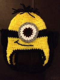 Minion Despicable Me Crochet Baby Newborn Beanie Hat