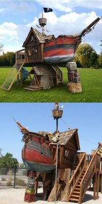 Pirate Ship Playhouse - a child (or adult's) dream come true!