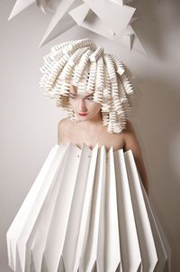 "DO HAIR FOR IYC �""˜ Paper Dress Prettiness �""˜ art dress made of paper"