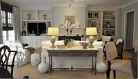 family room layouts, tvs and sofa tables.