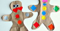 Learn about shapes, body parts and have fun with this gingerbread man craft for kids.
