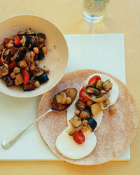 Eggplant, Zucchini, and Chickpea Wraps