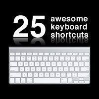 25 awesome Photoshop keyboard shortcuts.