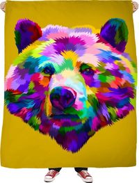 Bear Fleece Blanket $65.00
