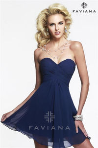 Short Ruched Faviana Homecoming Dress 7420