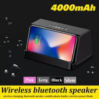 Wireless bluetooth Speaker Wireless Charging Heavy Bass Phone Holder Speaker