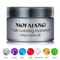 �Ÿ˜�Color Hair Wax Styling Pomade Silver Grandma Grey Temporary Dye Disposable Fashion Festival Celebrate Molding Coloring Mud Cream�Ÿ˜� $12.58
