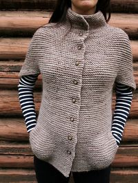 Huw cute? Cozy warm knit with striped T