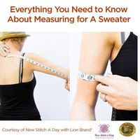 A Guest Post: Everything You Wanted To Know About Measuring For a Sweater + A Free Sweater Planning Guide