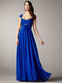 Prom Dresses Square Floor Length Chiffon Ruffles Sequins