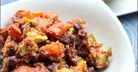 A Sweet Potato Black Bean Quinoa Salad recipe that's ready in minutes.