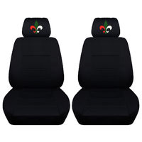 Two Front Seat Covers Fits a Toyota Corolla with a Fluer Embroidered on the Headrest Covers Airbag Friendly $89.99