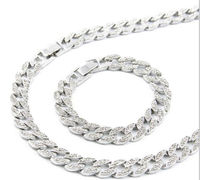 "Men's necklace/bracelet Miami Cuban Link Chain Set Gold Color Fully Iced Out Rhinestone Hip Hop Bling 2016 Hot Sale 15mm 30"" Necklace & 8.5"" Bracelet $74.75"