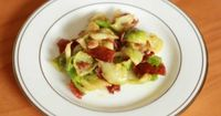 Brussels Sprouts (100 Calories) #LCHF Steamed brussels sprouts, bacon, butter