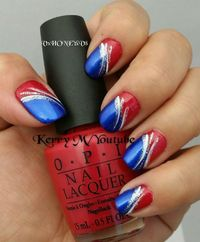 Posts Similar To 4th Of July Nails Red White And Blue Easy