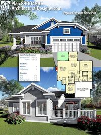 Architectural Designs House Plan 890048AH gives you over 1,800+ square feet of heated living space. Ready when you are, where do YOU want to build? #890048AH #adhouseplans #architecturaldesigns #houseplan #architecture #newhome #newconstruction #newhouse ...