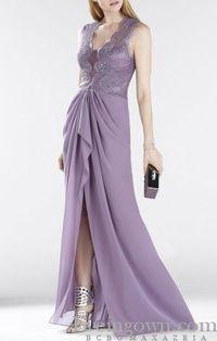 Brandy Sleeveless Lace BCBG Evening Dress Long