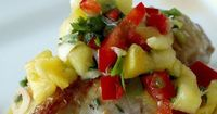If you're looking for a different way to jazz up some chicken breasts for dinner, adding pineapple salsa is a great way to change things up! You can also add pineapple salsa to fish!