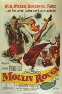 Moulin Rouge (1952) British drama directed by John Huston with Jose Ferrer, Zsa Zsa Gabor, Susanne Flon, Colette Marchand, Christopher Lee etc It won the Sliver Lion at Venice Film Festival. Nominated for 7 Oscars and won 2.
