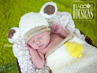 Baa Baa Baby Lamb Hat and Cocoon Set PDF Knit Pattern