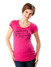 A Little Baby Grows A Long Way Maternity Tee