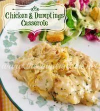Chicken & Dumplings Casserole! Easy Chicken Recipe for Dinner! This looks so good!
