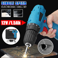 12V Lithium Power Drill Rechargeable Electric Screwdriver Screw Driver Kit