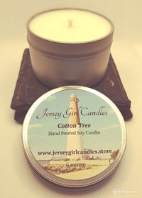 Cotton Tree 6 ounce Soy Candle $8.00