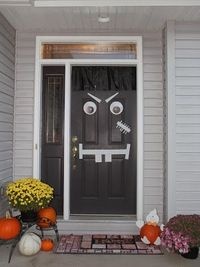Making your door into a Halloween character doesn't have to WRECK your door. Say no to duct tape and yes to two materials that will save your door and make Frankenstein look good all month long!