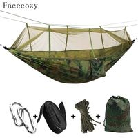Facecozy Outdoor Parachute With Mosquito Net Hammock Tent Portable Nylon Hiking Camping Garden Travel Hunting Hanging Swing Bed $21.66