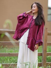 Red wine linen cardigan, Tops for women, light linen long top, Womens Shirt, Tunic Shirt, Boyfriend shirt, Plus size shirt, Summer shirt