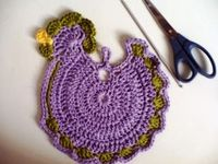 HOW TO CROCHET potholders FOOTSTEPS