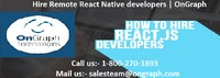 Hire Remote React Native developers | OnGraph  OnGraph, is best React Native app development services for mobile apps with proven track record. Hire experienced code based React Native mobile app developer for fast & successful mobile app developmen...