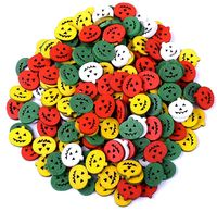 Pack of 100 Mini Assorted Colours Wooden Pumpkins. 15mm Halloween Buttons £7.79