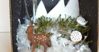 {Winter Dioramas} A tiny world created from the imagination... *simple kids activity