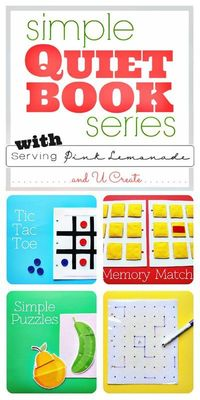 Simple Quiet Book Series and Free Templates!