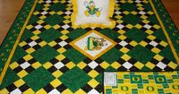#TBQSC Exclusive ... University of Oregon Ducks Football Tailgating Quilt ... Picture your favorite sports team in a similar design ... Custom Orders Always Welcome!