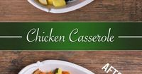 Our Chicken Casserole is so easy and delicious, it will quickly become a family favorite! Preheat oven to 400°. Season chicken w/ salt & pepper. Heat oil in deep skillet & brown chicken. Add onion & garlic and cook until onion is almost tende...