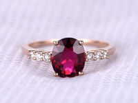 2.15CTW OVAL CUT PINK TOURMALINE AND DIAMOND ENGAGEMENT RING 14K ROSE GOLD