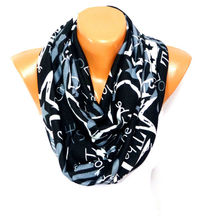 infinity Scarf, Loop Scarf, Shawl, Star painted infinity Scarf, Star Shawl, Unisex Fashion Accessories, Gift for teens, Valentines Gift $15.00