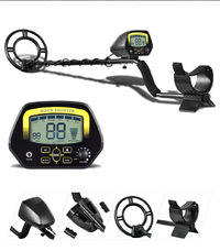 MD3030 Underground Metal Detector Treasure Hunter LCD Display Adjustable Gold Finder Digger Under Shallow Water High Sensitivity with Headphones and Bag