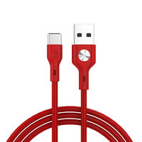 GOLF GC-60 CD Leather Type-C 1M 3A Fast Charging Data Cable for Samsung Xiaomi Huawei