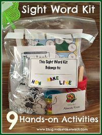 Activities for Teaching Sight Word