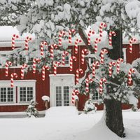Christmas Lawn Decorations - Hanging Candy Canes (Set of 30) $34.95