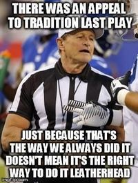 Logical Fallacy Ref is an image macro series featuring photographs of sports referees with captions calling out the use of logically invalid arguments used in o