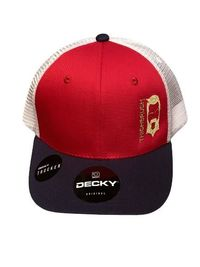 """THIGHBRUSH® - """"LIMITED EDITION"""" - Trucker Snapback Hat - Red, White and Navy"""