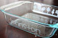 AMAZING etched glass tutorial! Such a great idea to label all my glass pyrex so the right dishes always come home with me from parties!