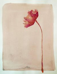 FLOWERS - Drawings with Ink, pencil and acrylic on Canson textured paper 200 gr. Pink/purple/beige